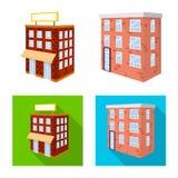 Vectorillustratie van bouw en de bouwteken Inzameling van bouw en landgoed vectorpictogram voor voorraad royalty-vrije illustratie