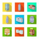 Vectorillustratie van bouw en de bouwteken Reeks van bouw en landgoed vectorpictogram voor voorraad royalty-vrije illustratie