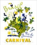 Vectorillustratie van Braziliaans Carnaval vector illustratie