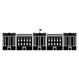 Vectorillustratie van Buckingham Palace van Londen Stock Afbeeldingen