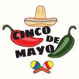 Vectorillustratie van Cinco de Mayo-vieringsachtergrond Royalty-vrije Stock Fotografie