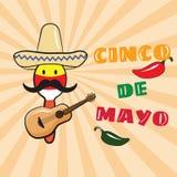 Vectorillustratie van Cinco de Mayo-vieringsachtergrond vector illustratie