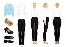 Vectorillustratie van collectieve kledingscode Stock Foto