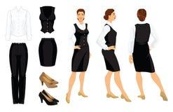 Vectorillustratie van collectieve kledingscode Stock Afbeelding