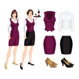 Vectorillustratie van collectieve kledingscode Stock Fotografie