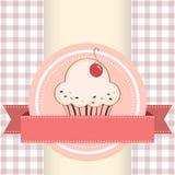 Vectorillustratie van cupcake Royalty-vrije Stock Afbeeldingen