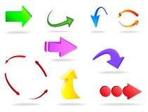 Vectorillustratie van 3d pijl Stock Fotografie