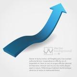 Vectorillustratie van 3d pijl stock illustratie