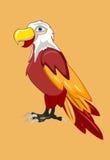 Vectorillustratie van de beeldverhaal de grappige adelaar Stock Foto's