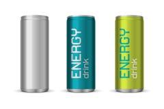 Vectorillustratie van de blikken van de energiedrank Royalty-vrije Stock Fotografie