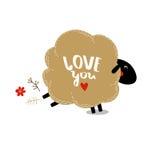 Vectorillustratie van de Dag van Valentine ` s Royalty-vrije Stock Foto's