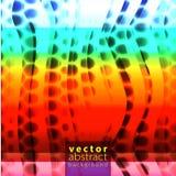 Vectorillustratie van de heldere achtergrond van het kleuren abstracte patroon met halftone motief voor dynamisch dekkingsontwerp vector illustratie