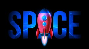 Vectorillustratie van de realistische 3D lancering van het raket ruimtedieschip op transparante achtergrond wordt geïsoleerd Ruim stock illustratie