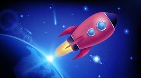 Vectorillustratie van de realistische 3D lancering van het raket ruimteschip op transparante achtergrond Ruimteexploratie Sta van stock illustratie
