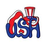 Vectorillustratie van de V.S. lettering Stock Fotografie