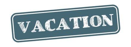 Vectorillustratie van de vakantie de vierkante grungy zegel stock illustratie