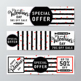 Vectorillustratie van de verkoopachtergrond van de valentijnskaartendag Royalty-vrije Stock Afbeeldingen