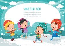 Vectorillustratie van de winterscène Royalty-vrije Stock Afbeelding