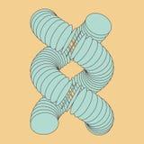 Vectorillustratie van DNA-structuur in 3d Stock Afbeeldingen
