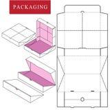 Vectorillustratie van doos pakketmalplaatje stock illustratie