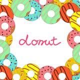Vectorillustratie van doughnut op witte achtergrond Stock Illustratie