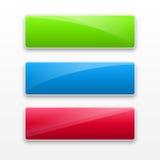 Vectorillustratie van downloadknopen. stock illustratie
