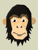 Vectorillustratie van een aap Royalty-vrije Stock Foto's
