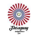Vectorillustratie van een achtergrond voor Gelukkige de Onafhankelijkheidsdag van Paraguay - Het vector royalty-vrije illustratie