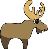 Vectorillustratie van een Amerikaanse eland stock illustratie