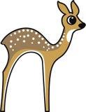 Vectorillustratie van een bambi stock illustratie