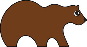 Vectorillustratie van een bruine beer royalty-vrije illustratie