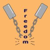 Vectorillustratie van een Dag van Vrijheid of Juneteenth Stock Afbeelding