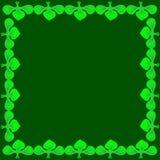 Vectorillustratie van een donker kader van klaver Stock Foto's
