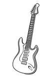 Vectorillustratie van een elektrische gitaar Stock Fotografie