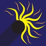 Vectorillustratie van een gedeeltelijke zonneverduistering Royalty-vrije Stock Afbeeldingen