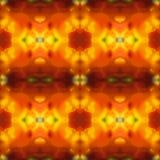 Vectorillustratie van een geel-rood patroon Stock Afbeelding