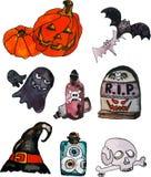 Vectorillustratie van een Halloween-reeks Royalty-vrije Stock Foto's