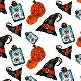 Vectorillustratie van een Halloween-reeks Royalty-vrije Stock Afbeelding