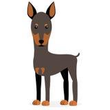 Vectorillustratie van een hond Kinderen` s gestileerd beeld stock illustratie