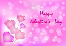 Vectorillustratie van een Kaart van de Valentijnskaartendag Royalty-vrije Stock Fotografie