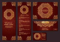 Vectorillustratie van een menu voor een restaurant of koffie Arabische oosterse keuken Royalty-vrije Stock Foto