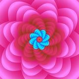 Vectorillustratie van een mooi roze bloemenontwerppatroon stock foto's