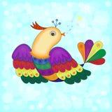 Vectorillustratie van een Mooie Vogel Stock Foto's