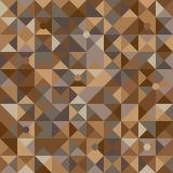 Vectorillustratie van een naadloos patroon van eenvoudige cirkels en driehoeken in schaduwen van bruin in diverse schaduwen Stock Afbeeldingen