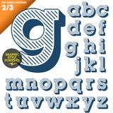 Vectorillustratie van een ouderwets alfabet Stock Fotografie