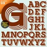 Vectorillustratie van een ouderwets alfabet Royalty-vrije Stock Foto's