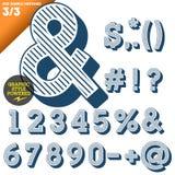 Vectorillustratie van een ouderwets alfabet Stock Afbeelding