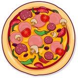 Vectorillustratie van een pizza vector illustratie