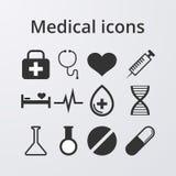 Vectorillustratie van een reeks medische pictogrammen Stock Fotografie