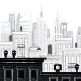 Vectorillustratie van een schets van New York Royalty-vrije Stock Afbeelding